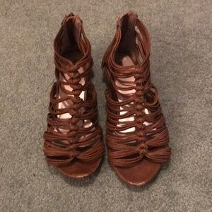 Brown ankle sandals